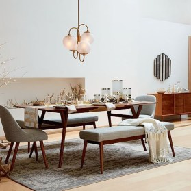Modern Mid Century Dining Room Table Decor Ideas 45