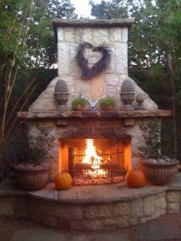 Wonderful Outdoor Fireplace Design Ideas 03