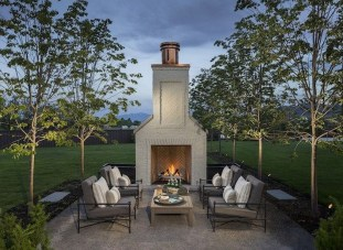 Wonderful Outdoor Fireplace Design Ideas 16