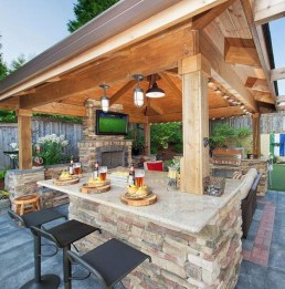 Wonderful Outdoor Fireplace Design Ideas 21