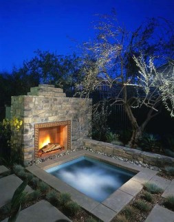 Wonderful Outdoor Fireplace Design Ideas 28