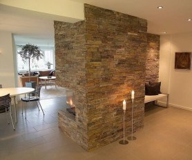Beautiful Stone Veneer Wall Design Ideas 16