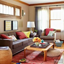 Charming Living Room Designs Ideas With Combinations Of Brown Color 18
