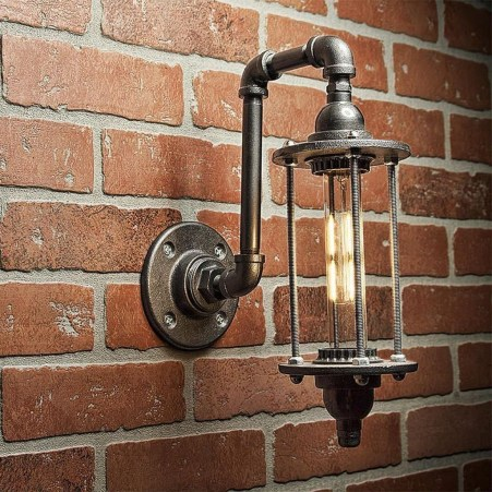 Cool Diy Industrial Pipe Lamps Ideas 22