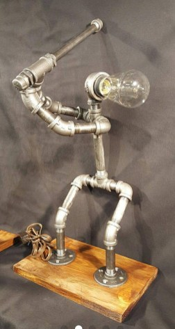 Cool Diy Industrial Pipe Lamps Ideas 53