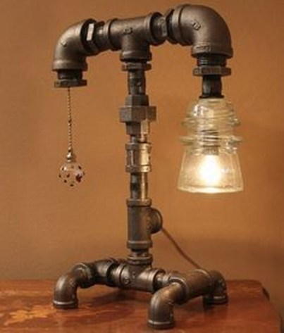 Cool Diy Industrial Pipe Lamps Ideas 55