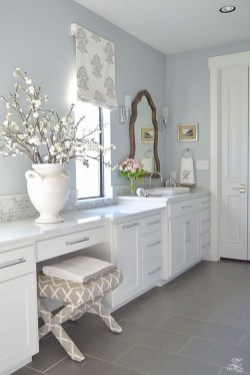 Elegant Farmhouse Bathroom Wall Color Ideas 07