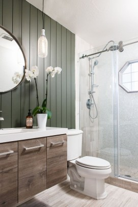 Elegant Farmhouse Bathroom Wall Color Ideas 25