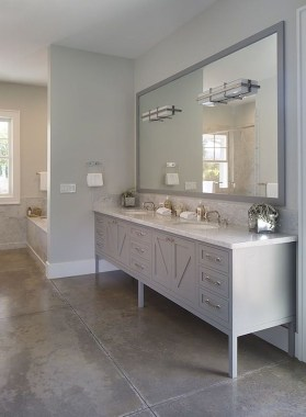 Elegant Farmhouse Bathroom Wall Color Ideas 45