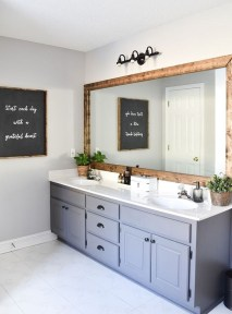 Elegant Farmhouse Bathroom Wall Color Ideas 50