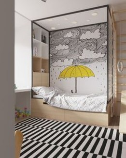 Pretty Scandinavian Kids Rooms Designs Ideas 34