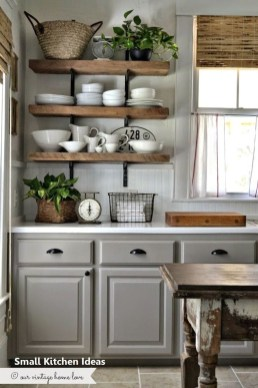 Stunning Small Kitchen Design Ideas For Home 35