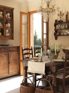 Stylish French Country Kitchen Decor Ideas 19