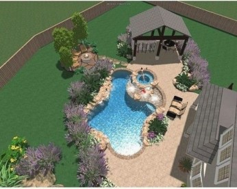 Amazing Natural Small Pools Design Ideas For Backyard 44