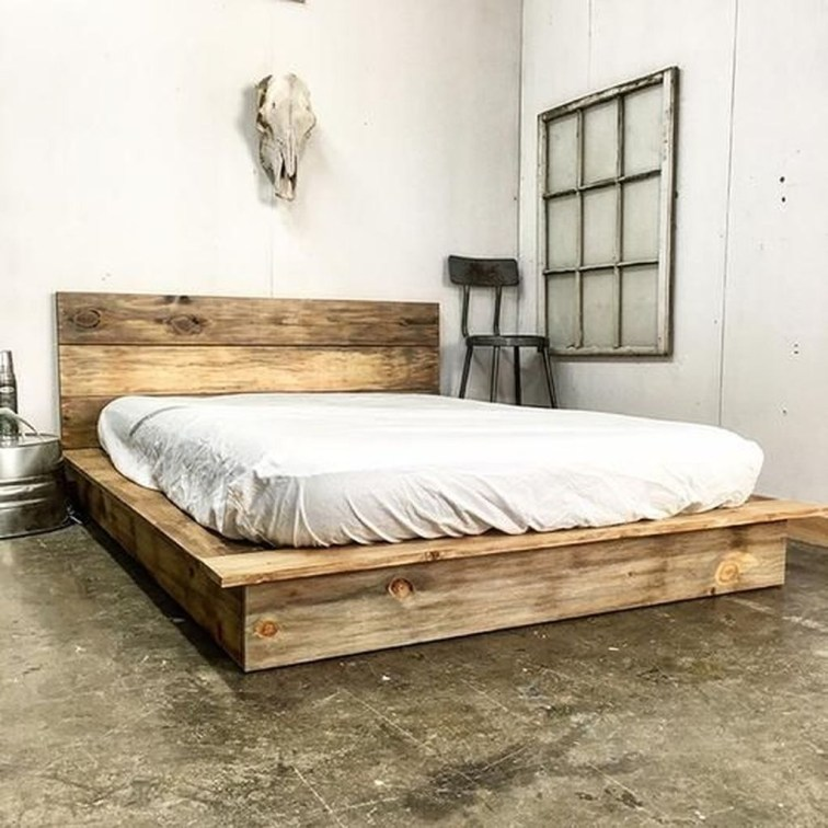 Best Wooden Platform Designs Ideas For Bed 45