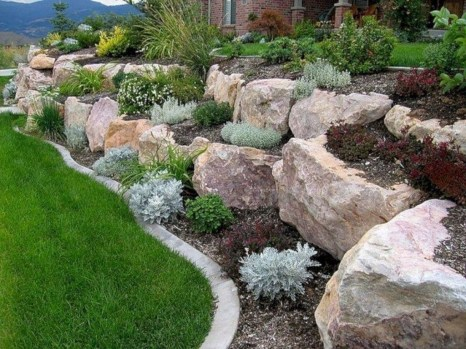 Brilliant Rock Garden Landscaping Ideas For Front Yard 07