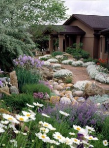 Brilliant Rock Garden Landscaping Ideas For Front Yard 29