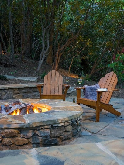 Creative Build Round Firepit Area Ideas For Summer Nights 39