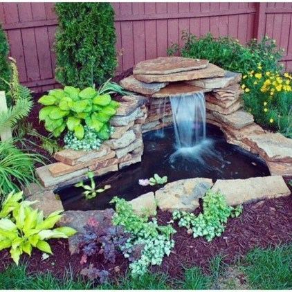 Modern Diy Garden Pond Waterfall Ideas For Backyard 01