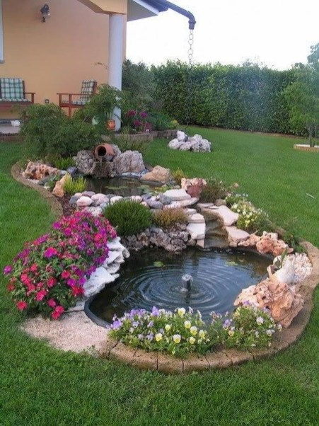 Modern Diy Garden Pond Waterfall Ideas For Backyard 12
