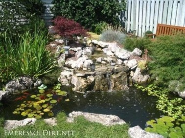 Modern Diy Garden Pond Waterfall Ideas For Backyard 13