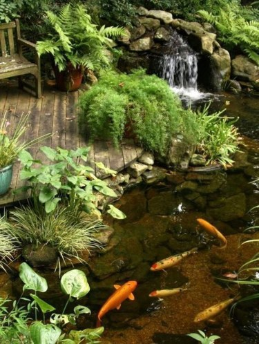 Modern Diy Garden Pond Waterfall Ideas For Backyard 29