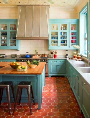 Cool Colorful Kitchen Decor Ideas For Summer 25