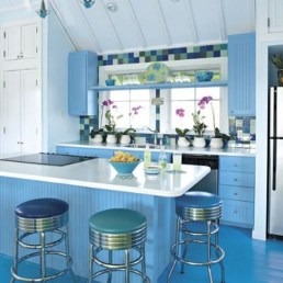 Cool Colorful Kitchen Decor Ideas For Summer 36