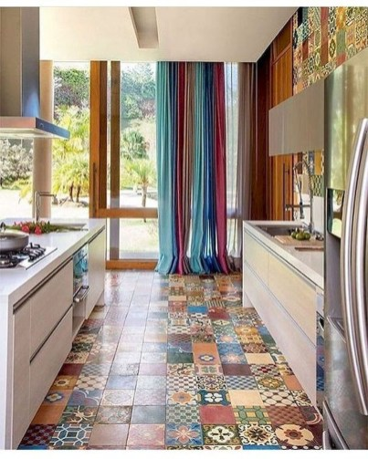 Cool Colorful Kitchen Decor Ideas For Summer 51