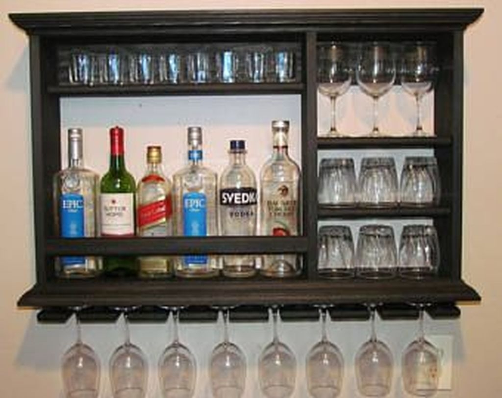 Elegant Mini Bar Design Ideas That You Can Try On Home 44