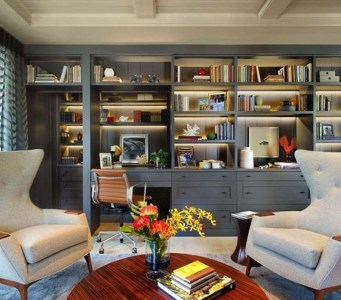 Magnificient Home Design Ideas With Library You Should Keep 06