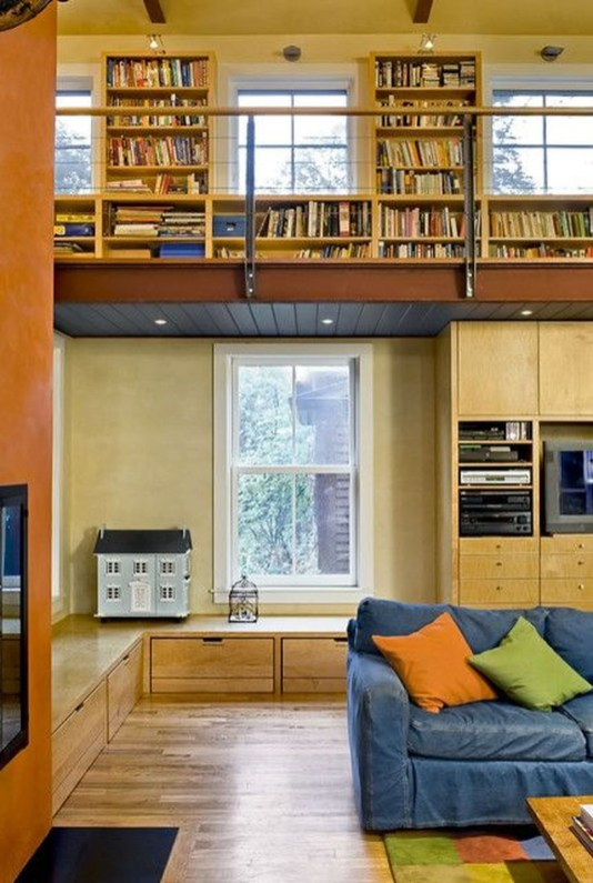 Magnificient Home Design Ideas With Library You Should Keep 43