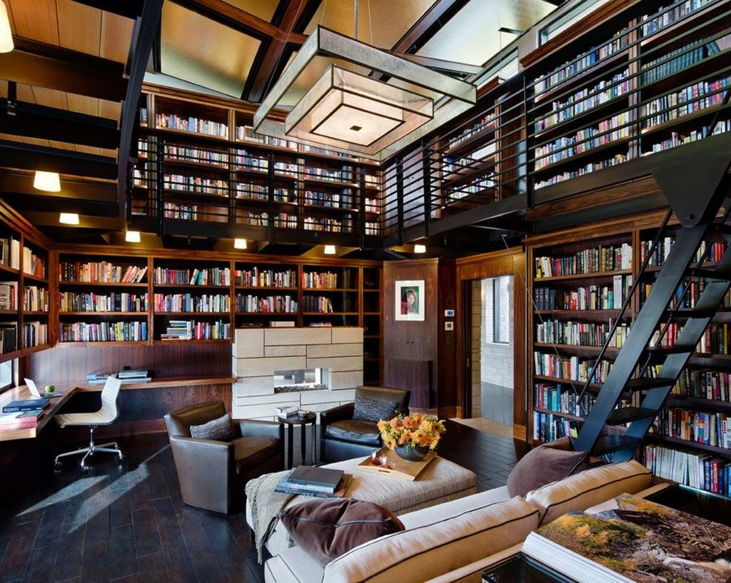 Magnificient Home Design Ideas With Library You Should Keep 51
