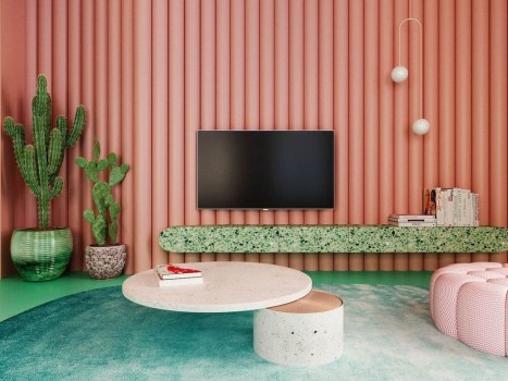 Stylish Colorful Apartment Decor Ideas For Summer 24