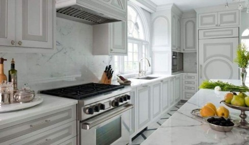Unique Painted Kitchen Cabinets Design Ideas With Two Tone 01