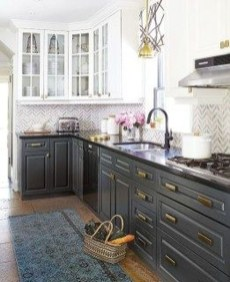 Unique Painted Kitchen Cabinets Design Ideas With Two Tone 06