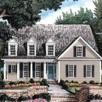 Astonishing Exterior Paint Colors Ideas For House With Brown Roof 02
