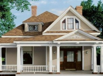 Astonishing Exterior Paint Colors Ideas For House With Brown Roof 26