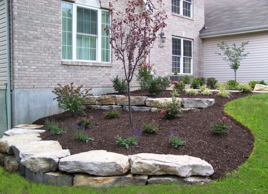 Cozy Rock Garden Landscaping Ideas For Make Your Yard Beautiful 17