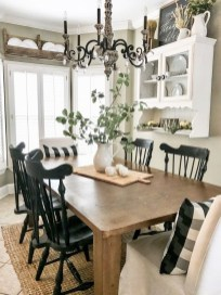 Relaxing Farmhouse Dining Room Design Ideas To Try 46