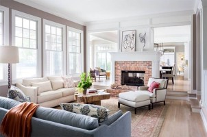 Superb Warm Family Room Design Ideas For This Winter 12