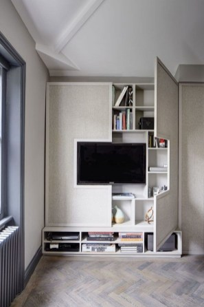 Unordinary Tv Stand Design Ideas For Small Living Room 06