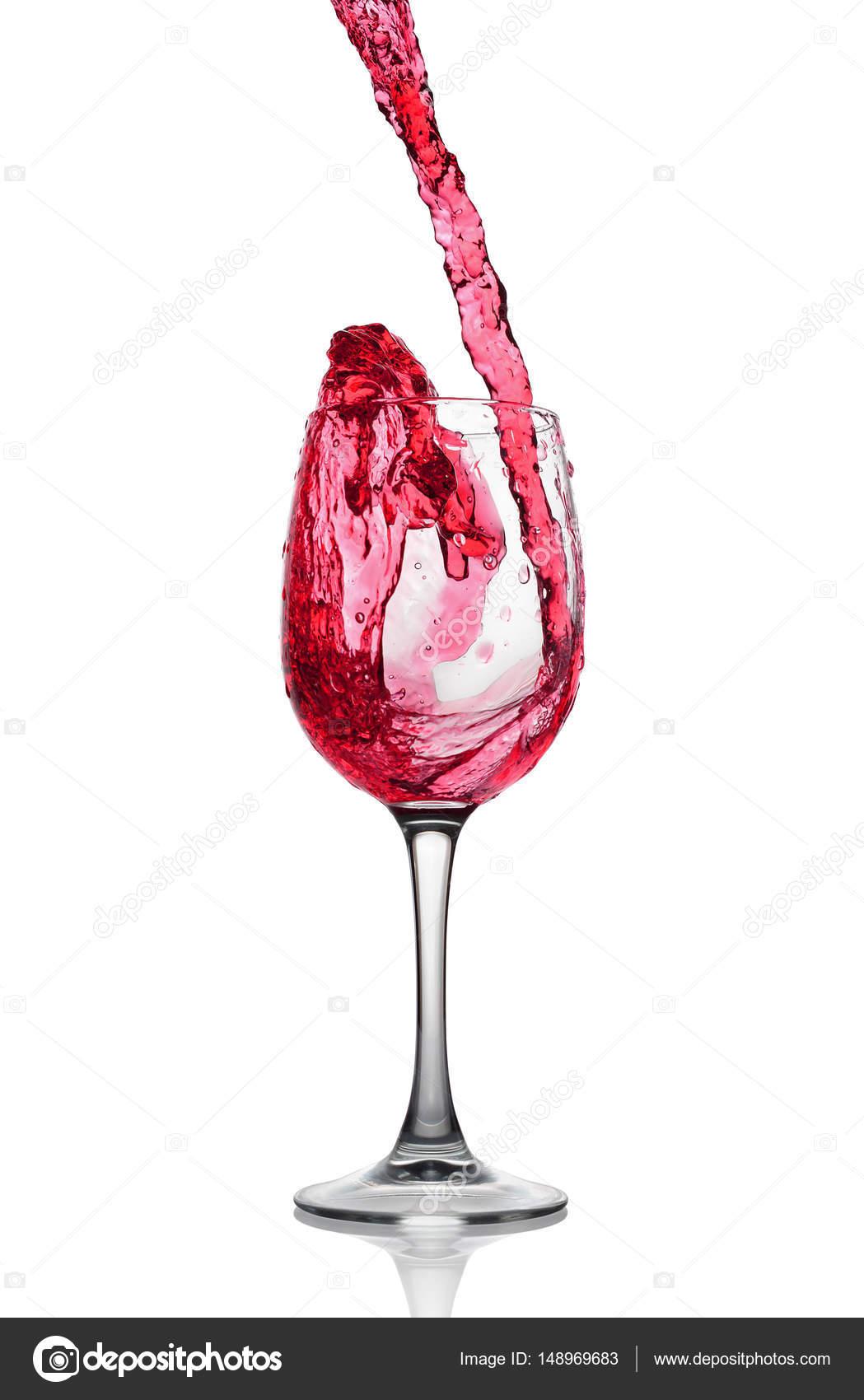 verre à vin taché