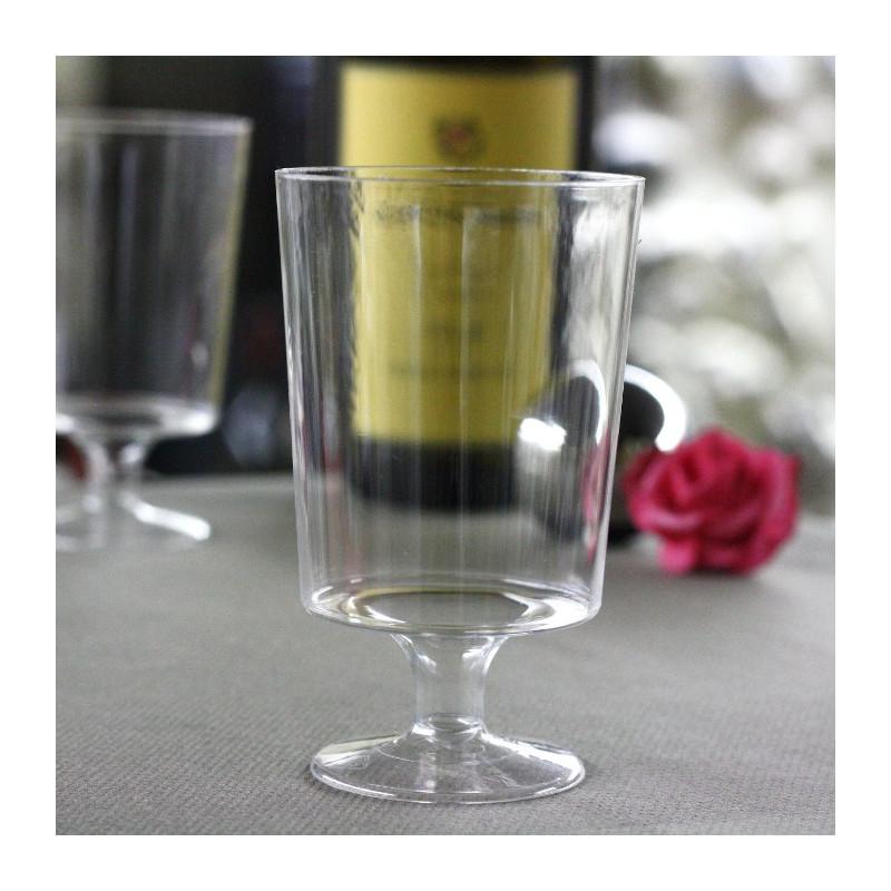 lot de verre a vin jetable