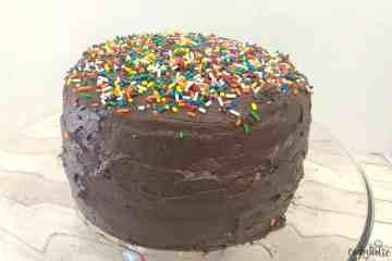 yellow cake chocolate frosting
