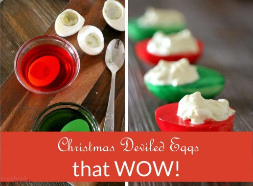 Preparing Xmas Deviled Eggs