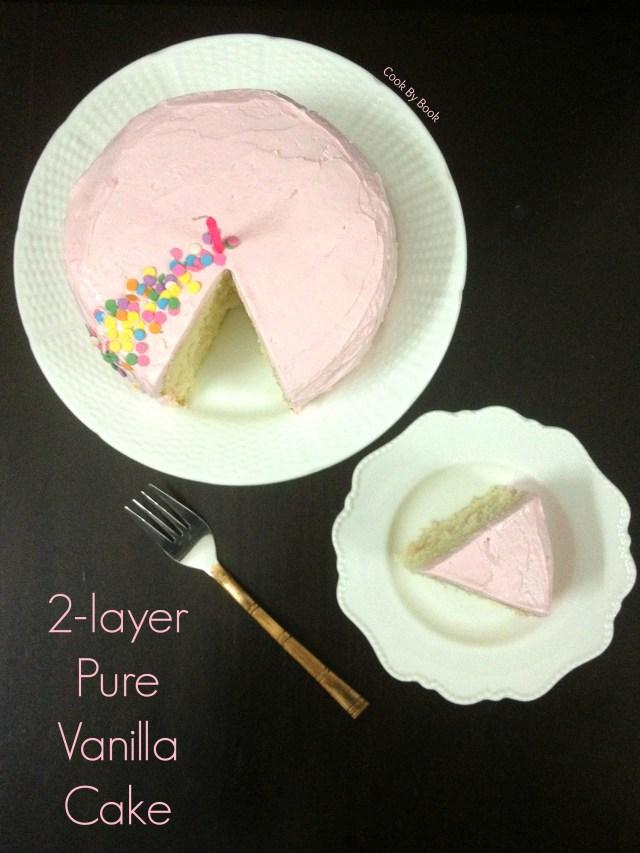 2-layer Pure Vanilla Cake2