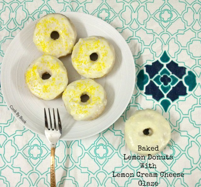 Baked Lemon Donuts with Lemon Cream Cheese Glaze