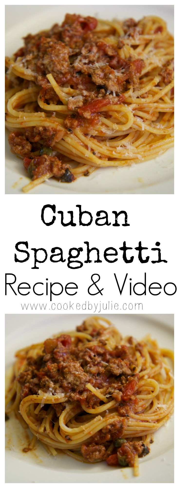 Try this Cuban Spaghetti recipe from CookedbyJulie.com