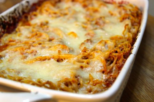 This baked spaghetti can be a wonderful take on lasagna.